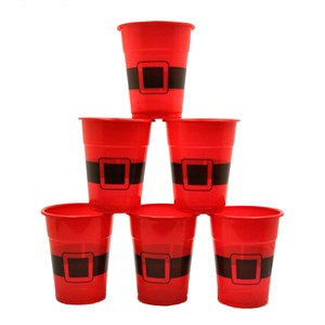 Santa Disposable Plastic Cups