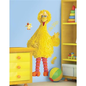 Sesame Street Big Bird Peel And Stick Giant Decal