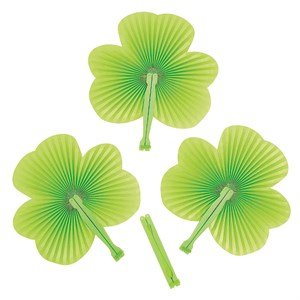 Shamrock Shaped Folding Fans
