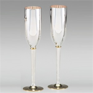 Silver And Gold Plated Goblets