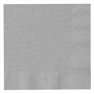 Paper Lunch Napkins - Silver