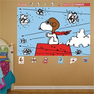 Snoopy Flying Ace Mural REALBIG Wall Decal