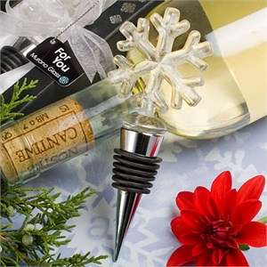 Snowflake Design Wine Bottle Stoppers