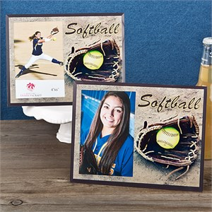 """Softball Picture Frame 4"""" by 6"""" Photo"""