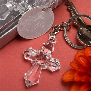 Sparklingly-Special Cross Design Keychains