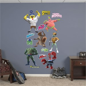 Sponge Out of Water Superheroes Collection Decal