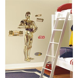 Star Wars Classic C3PO Peel And Stick Giant Decal