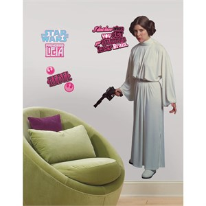 Star Wars Classic Leia Peel And Stick Giant Decal