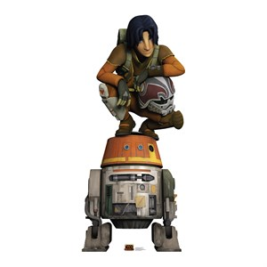 Star Wars Rebels-Ezra And Chopper Cardboard Cutout