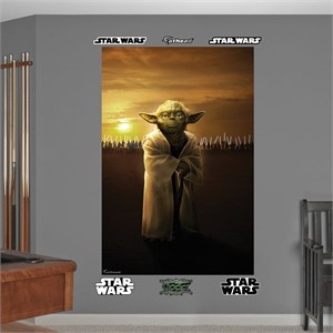 Star Wars Yoda-Jedi Knights Mural Wall Decal