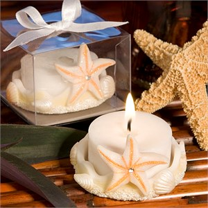 Starfish Design Favor Saver Candles
