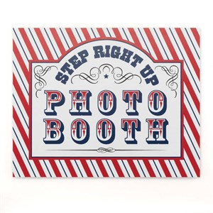 Step Up to the Booth Sign