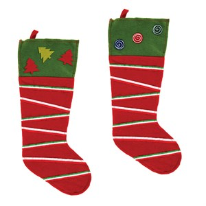 Striped Felt Christmas Stocking