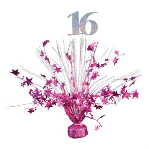 Sweet 16 Pink Balloon Centerpiece