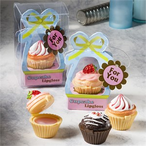 Sweet Little Cupcake Design Lip Gloss Favors
