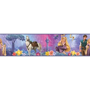 Tangled-Rapunzel Peel And Stick Border