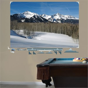 Telluride Snow Capped Mountains Mural Wall Decal