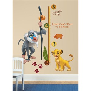 The Lion King Rafiki INCHES Growth Chart