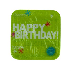 Time To Party Birthday Plates