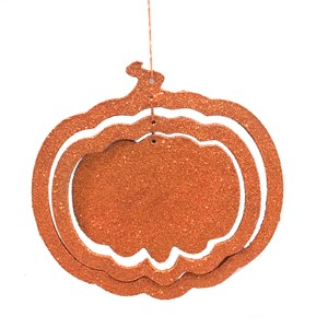 Sparkled Pumpkin or Leaf Hanging Decoration