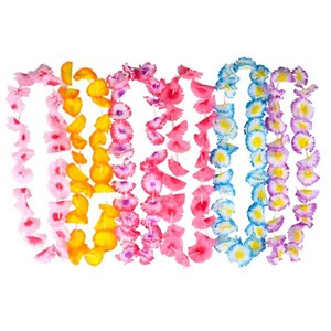 Two Tone Flower Petal Leis