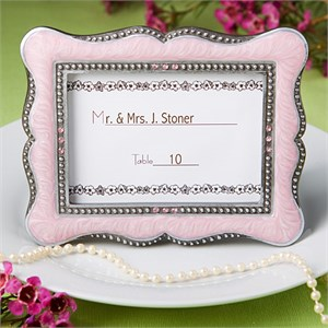 Victorian Design Frame Place-Card Holders Pink