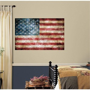 Vintage American Flag Giant Decal