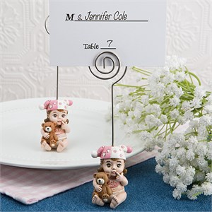 Vintage Baby Girl Place Card Holder
