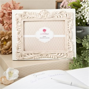 Vintage Design Guest Book with a Front 5 x 7 Inch Photo Cover