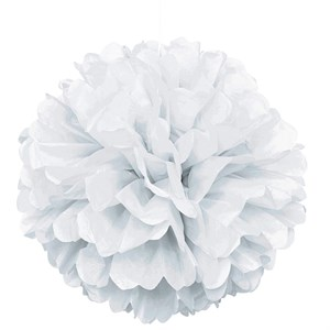 "White 16"" Puff Ball Decoration"