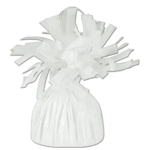 White Foil Balloon Weight