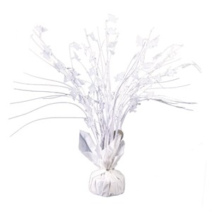 White Graduation Balloon Centerpiece