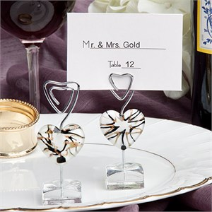 White Heart Design Place Card Holders