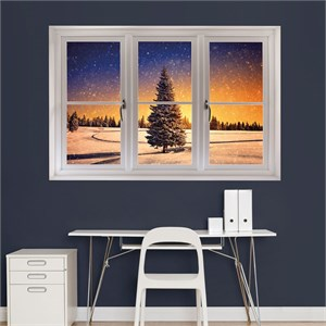 Winter Sunset: Instant Window REALBIG Wall Decal