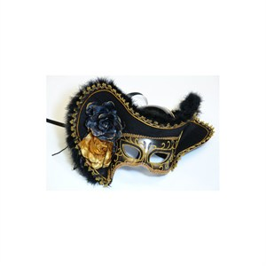 Women's Black Pirate Mask