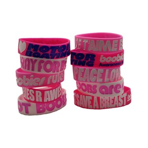 Women's Risqué Breast Cancer Awareness Bracelet