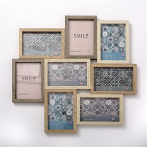Wood Puzzle Collage Frame 8 Openings