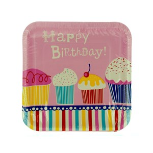 Yummy Cupcake Birthday Plates