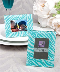 Zebra Pattern Place Card Holder Or Picture Frame