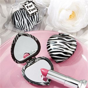 Zebra Print Mirror Compacts